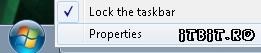 Taskbar - Properties