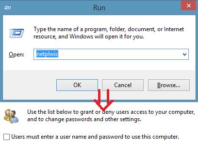 Dezactiveaza parola de logare in Windows 8